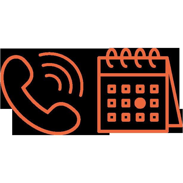 infographic icon phone og calendar